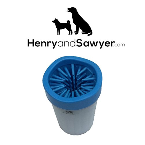 Dog Paw Cleaner by Henry & Sawyer | Portable Soft Silicone Brush Cleaner | Washer Cup Brusher Made Of Silicone Material Comfortable For Dirty And Muddy Paws