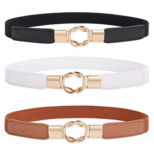 Women Skinny Stretchy Waist Belt for Dress Ladies Elastic Thin Belt Plus Size