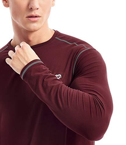 Zengjo Mens Base Layer Shirt Long Sleeve Athletic Running T Shirts Lightweight Undershirt
