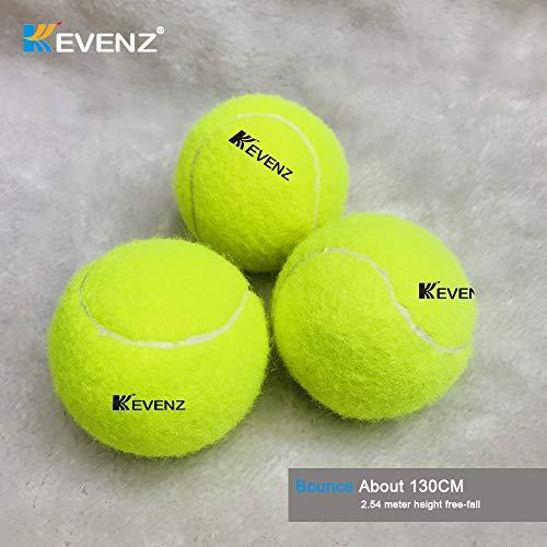 KEVENZ Green Advanced Training Tennis Balls,Practice Ball,Tennis Racket (12-Pack) by KEVENZ (Image #2)