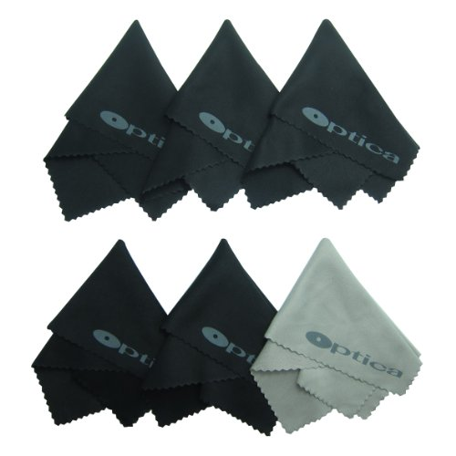Six (6) Premium High Grade Microfiber Cleaning Cloths for Lenses, Laptops, Tablets, Cellphone, Tv Screens, and All Other Delicates Surfaces - 100% Washer and Dryer Safe, Best Quality Materials and Finish.