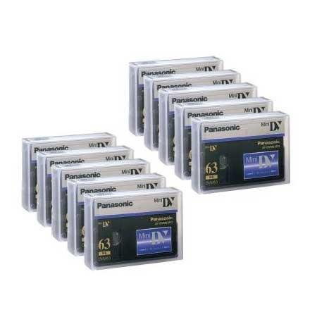 Panasonic AY DVM63PQ - Professional Quality - Mini DV tape - 50 x 63min by Panasonic