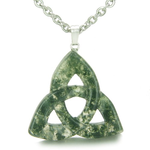 Moss Agate Pendant Necklace - 4
