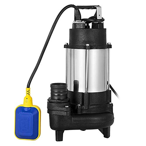 AB Submersible Heavy Duty Cast steel Sewage Pump 0.75HP Electric Removal for Clean Dirty Water Transfer With 20FT Cable & ()