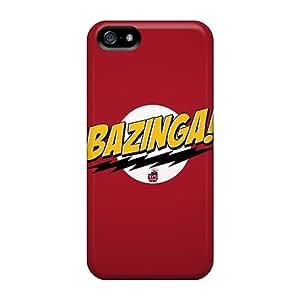 Apple Iphone 5/5s HSS24505FeUo Custom HD The Big Bang Theory Bazinga Skin Best Hard Cell-phone Cases -CharlesPoirier