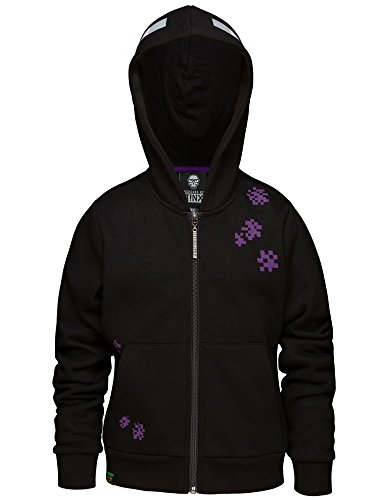 JINX Minecraft Big Boys' Enderman Zip-Up Hoodie (Black, -