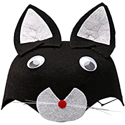 Tinksky Non-woven Cute Funny Fashion Children Kids Cartoon Animal Hat Halloween Costumes (Black Cat)