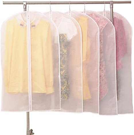 Fabric Dust Proof Cover Clothes Bag Dress Case Long Garment Zipped Bag Large Bag