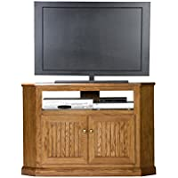 Eagle 47735WPDK Heritage Corner TV Cart, 46 Tall, Dark Oak Finish