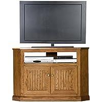Eagle 47735WPDK Heritage Corner TV Cart, 46 Tall, Dark Oak Finish