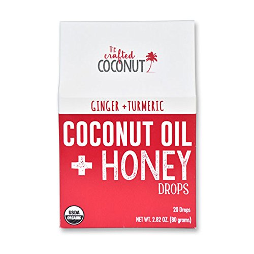 The Crafted Coconut - Organic Coconut Oil and Honey Drops - GINGER + TURMERIC or (Ginger Honey Cough)