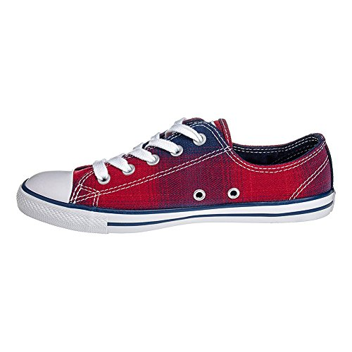 Zapatillas Converse All Stars Dainty Plaid (Chili/Night) Rojo