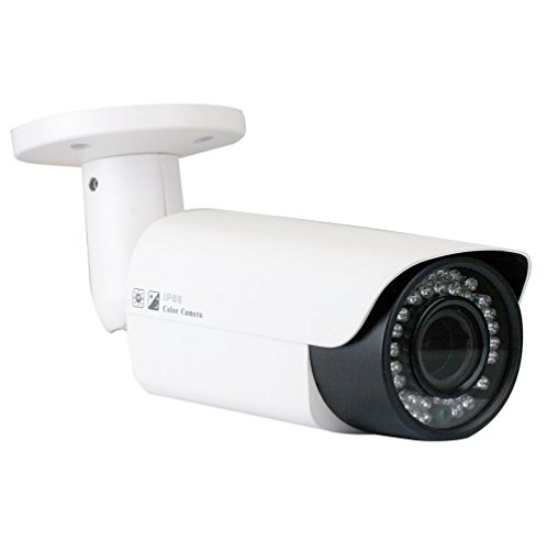GW Security 5MP 2592 x 1920 Pixel Network PoE Bullet IP Camera with 2.8-12mm 4X Optical Motorized Zoom Len, 120FT IR Night Vision ()