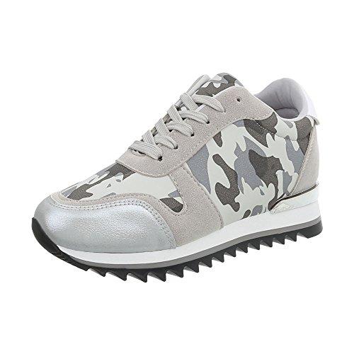 Low Piatto Scarpe Donna Sneakers Da Ital Multi Sneaker design Grigio 1PqZPw7