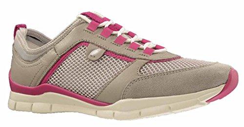 Geox D SUKIE B D52F2B 01443 C1010 cordones zapatos de suelo de estilo deportivo para mujer beige - Beige (Grau)