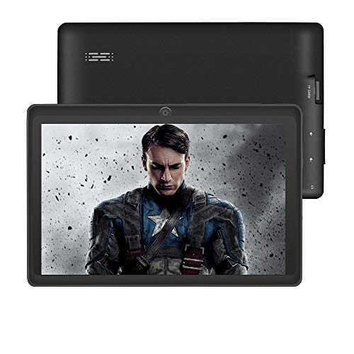 7 inch Tablet with WiFi, HD Display with Eye Protection Screen,1G+ 8G, ZONKO Android 8.1 Quad Core 1024x600 Dual Camera with Wi-Fi Bluetooth Tablet, Black (Google Android 7 Inch Tablet)