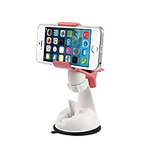 Doinshop (TM) Useful Universal Car Smart Mount Cradle Holder Stand for iPhone 5 5S 5G (pink)