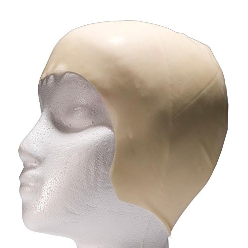Century Novelty Latex Bald Head Cap Halloween Costume Accessory,nude,ONE SIZE FITS -