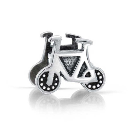 Bling Jewelry Bicycle Bead Charm .925 Sterling Silver