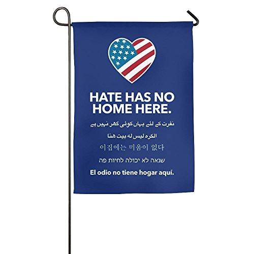 Hate Has No Home Here Garden Flag Family Decorative Banner For Yard Home 12 X 18 Inch Size by Golden Ptlantic Trading