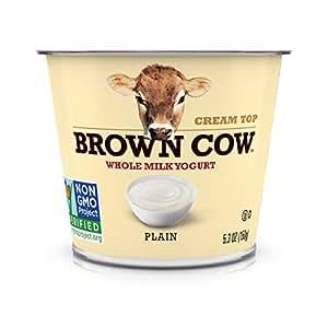 Brown Cow, Cream Top Plain Whole Milk Yogurt, 5.3 oz
