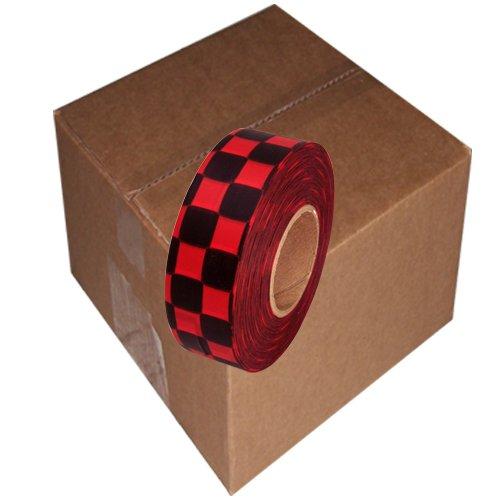 Checkerboard Flagging Tape Non Adhesive Plastic