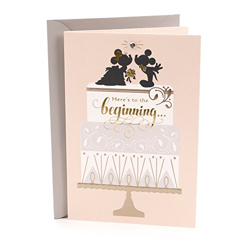 Hallmark Disney Wedding Card (Mickey and Minnie, Classic Romance)