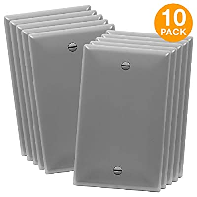 ENERLITES Blank Wall Plates, 1-4 Gang, Polycarbonate Theremoplastic