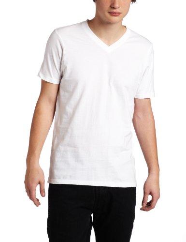 Hurley Men's Staple V-Neck Premium T-Shirt, White, Medium