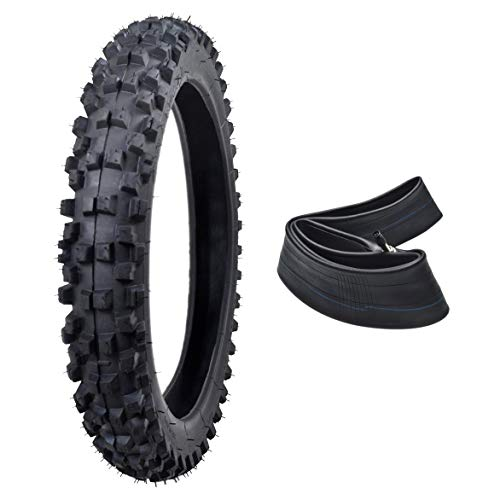- ZXTDR 60/100-14 14'' Knobby Tire With Tube for Dirt Bikes Pit Pro Trail