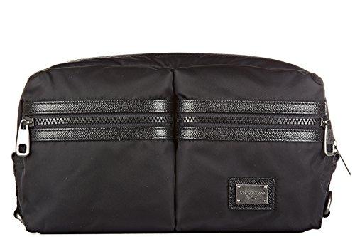 Dolce&Gabbana sac banane homme dauphine noir