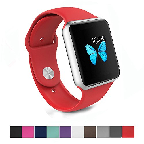 Silicone Watchband Replacement for Apple Watch 42mm (Red) - 1