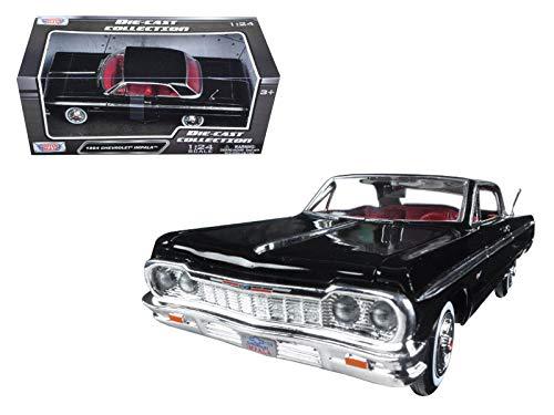 Motormax 1964 Chevrolet Impala Black 1/24 Diecast Model Car
