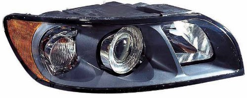 V40 Headlamp Assembly - Depo 373-1111R-AS Volvo S40/V40 Passenger Side Composite Headlamp Assembly with Bulb and Socket