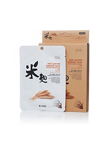 - MITOMO Uruuru Face Sheet Mask High Quality. Made in Japan. Pack of 4 (25g x 4) (Rice Leaven)