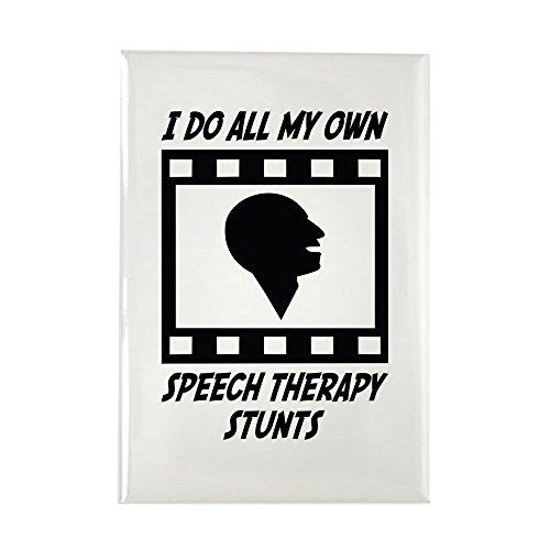 CafePress Speech Therapy Stunts Rectangle Magnet, 2