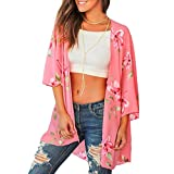 Keliay Bargain Tops,Fashion Womens Printing Short Sleeve Cardigan Long Smock Easy Blouse Tops