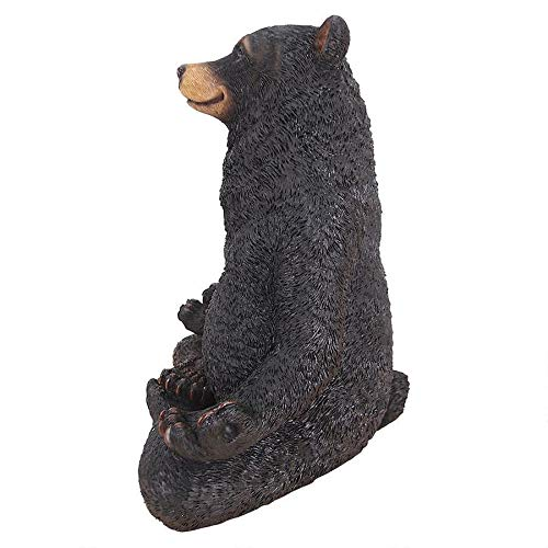 American Black Forest Bear Cub Omnivore Animal Wildlife Garden Statue Decor Art