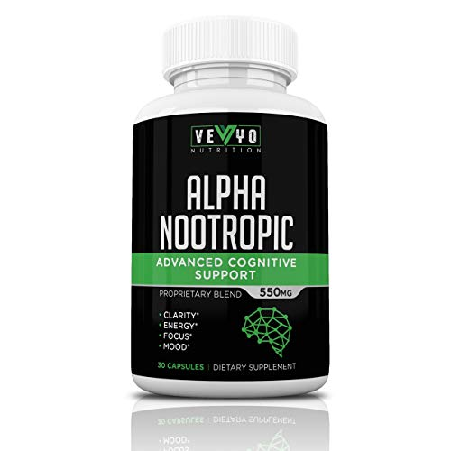 Natural Nootropic Brain Supplement by VEYO Nutrition - Focus Supplement w/Herbs to Boost Clarity, Cognitive Function & Productivity - Made in USA w/Bacopa Monnieri, Alpha GPC, Phosphatidylserine