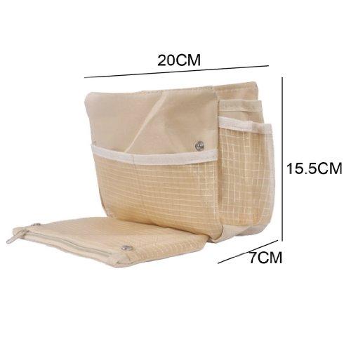 Tangda Tragbare Reisetasche Geldbeutel Handtasch Einkaufstasche Tasche für Reisen - Beige
