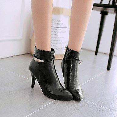 LFNLYX Mujer-Tacón Stiletto-Tacones / Puntiagudos / Botas a la Moda-Botas-Vestido / Casual / Fiesta y Noche-Semicuero-Negro / Rojo / Plata / Black