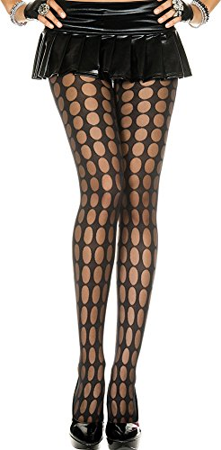 (ToBeInStyle Women's Oval Pattern Spandex Pantyhose - Black - One Size: Regular)