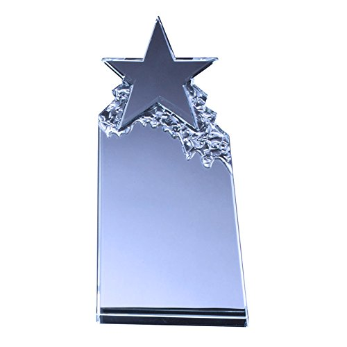 Customizable 7 Inch Optical Crystal Tower Star Award, includes Personalization ()
