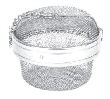 Tea Strainer, 4-3/8'' Dia., Stainless Steel Tea Ball With Chain & Mesh Lining (6 Pieces/Unit) by Thunder Group