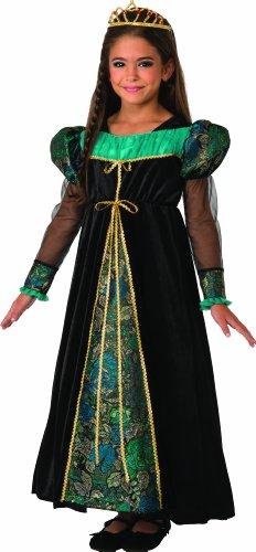 [Camelot Princess Costume, Black, Large] (Child Renaissance Costumes)