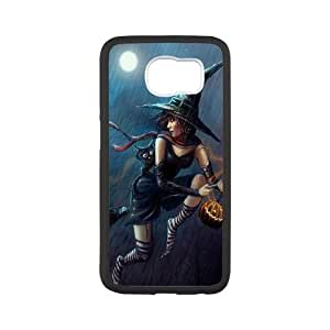 Halloween Not so Evil Witch Samsung Galaxy S6 Cell Phone Case White DIY gift pp001-6418335