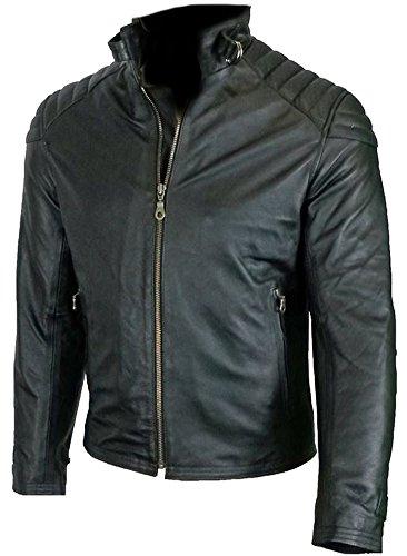 Classyak Vera Cow Alla Elegante E Pelle Di Alta Moda In Moto Qualità Black Jacket Da Uomo vWnxvr