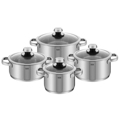 Livo 8 pc Induction and Oven Safe Cookware Set, Set Includes: 2.5 Quart Low Casserole with Lid, 2 Quart, 3.5 Quart and 6 Quart High Casserole with Lids, Dishwasher Safe