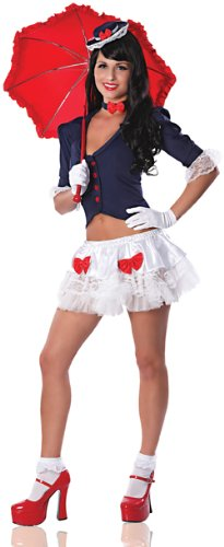 (Delicious Spoon Full Of Sugar Costume, Blue/White, Large)
