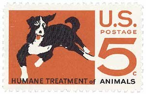#1307 - 1966 5c Humane Treatment of Animals Postage Stamp Numbered Plate Block (4) ()